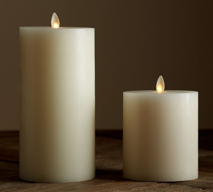 Flicker Flameless Wax Pillar Candle