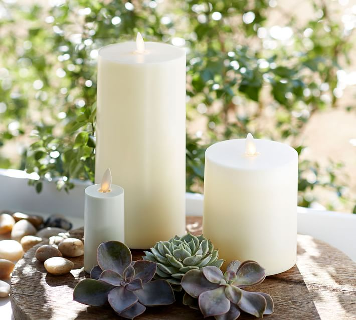 Flickering Flameless Outdoor Pillar Candle