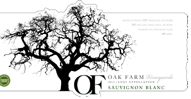 Oak Farm Vineyards 2014 Sauvignon Blanc (SRP $19.00) with Cypress Grove Humboldt Fog® Grande
