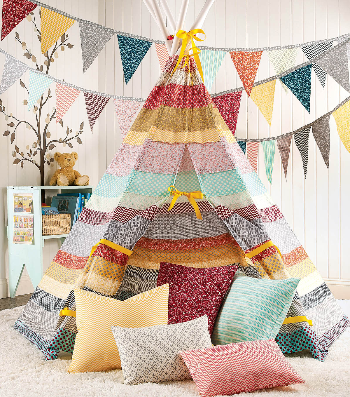 Striped Fabric Teepee