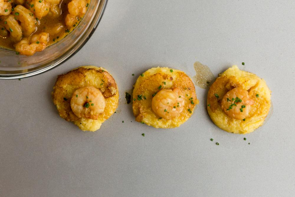 Shrimp + Grits Appetizer